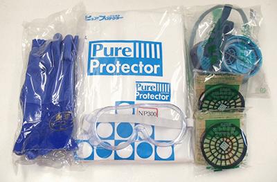 シロアリ駆除向けの防護服・ゴーグル・手袋等のセット